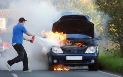 Uporaba gasilnika v osebnih vozilih