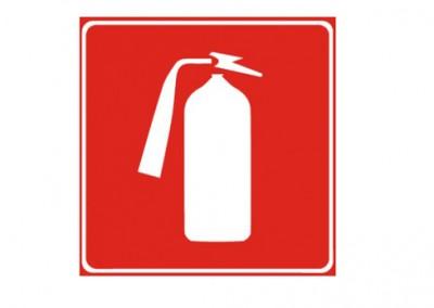 Nalepka gasilnik