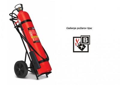 Gasilni aparat na CO2 30 kg B – prevozni