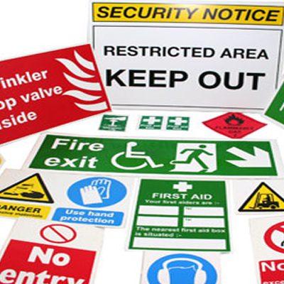 Znaki za varstvo pri delu in požarno varnost